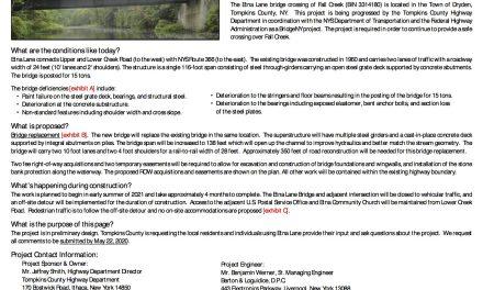 Seeking Public Comment: Etna Lane Bridge Project